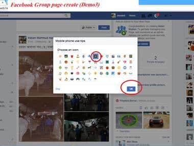 This is facebook Group page create demo.