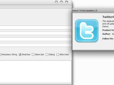 TwitterUpdates Application