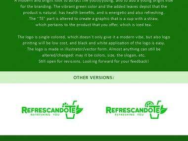 Logo Design for RefrescandoTE