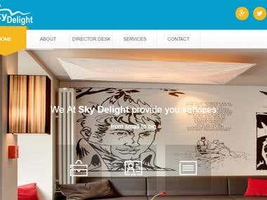 Skydelight-A website design and development project