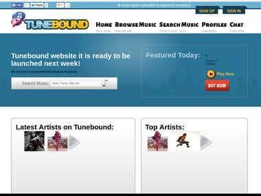 Tunebound Website