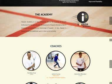 iSquash Academy  Website