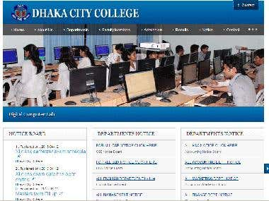 Website for a renowned college of Bangladeh