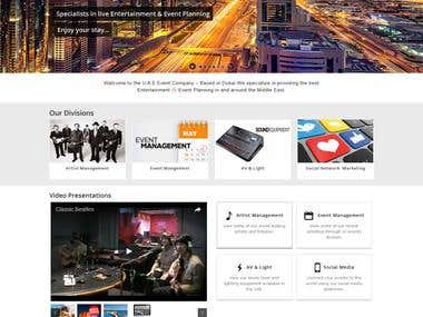 An Event company website using Enfold multipurpose theme