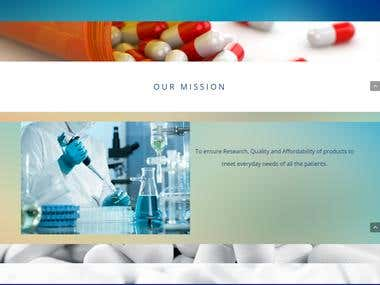 Pharmaceutical Website - RUV Pharma