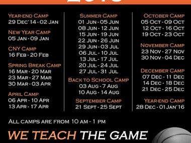 LJE Sports Timetable Design
