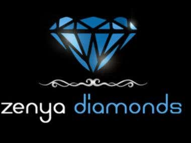 Logo design for Zenya Diamonds