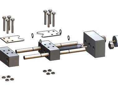 Exploded view for an assembly using solidworks