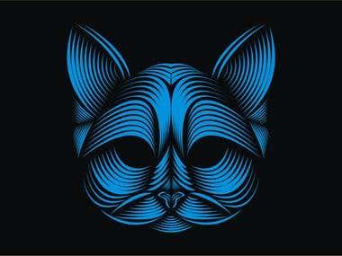 A evil cat
