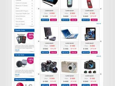 ecommerce website Electronic product