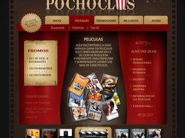 Web design for Pochoclos videoStore