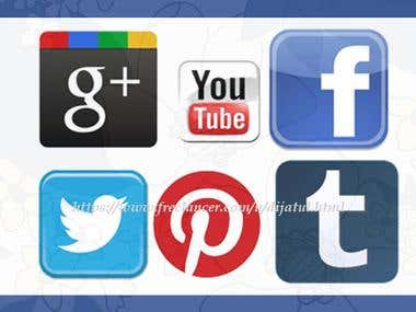 Create Facebook/Twitter/Youtube Timeline Cover Photo