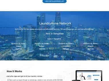 LaundryAnna Frontpage Design