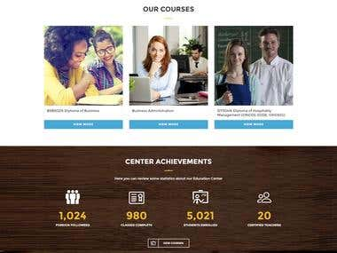 Education website for a college in Australia