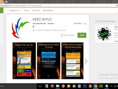 KEEC INTUC Android App
