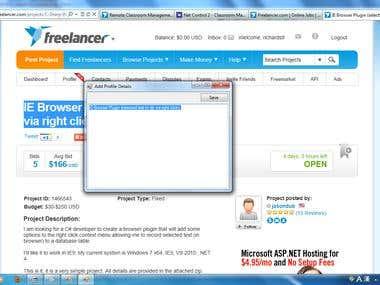 Internet Explorer Plugin for catch page content