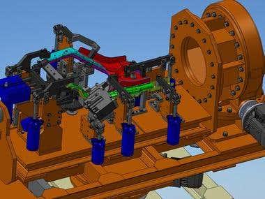 Fabco welding fixture 2 axis
