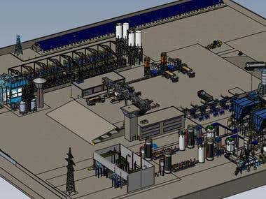 5Mw bio mass production facility I designed for the Yucatan