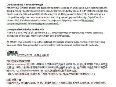 Translate ENGLISH to CHINESE Business Document