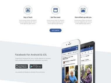 Social Landing Page