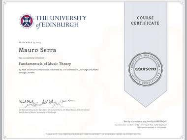 Fundamentals of Music Theory (The University of Edinburgh)