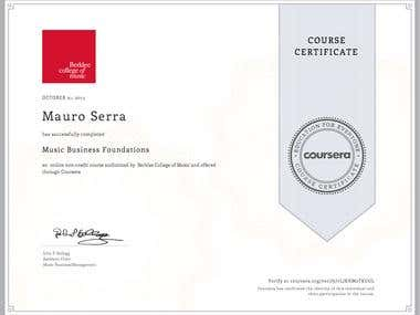 Music Business Foundations (Berklee College of Music)