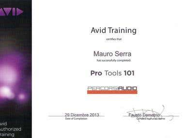 Avid's Pro Tools 101 (Percorsi Audio Istitute)