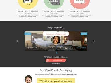 PSD To HTML For a Hotel