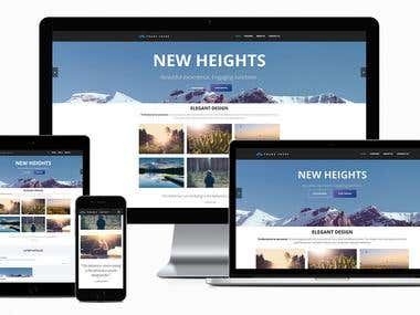 I will do Responsive web Template