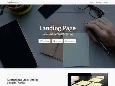 I will design Stunning Landing Page