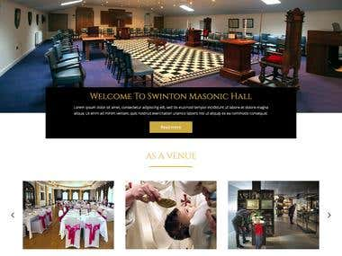 Website Design Entry for a Masonic Hall