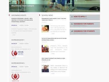 Oxford International School (Dynamic Website)
