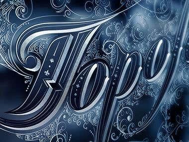 Typography Facebook banner