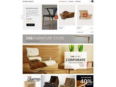 e-commerce website for furniture