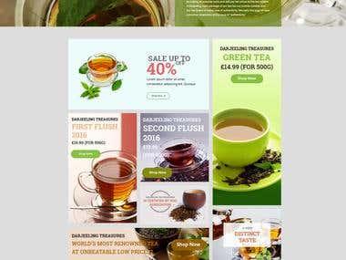 eCommerce website design for online tea selling