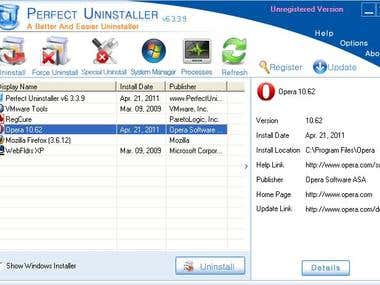 Delphi - Upgrade & BugFix -  PERFECT UNINSTALLER Product
