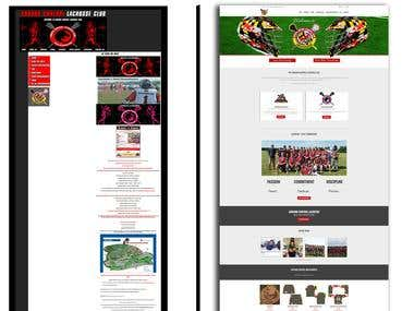 Website Redesign - Sports Club Ecommerce/Membership Site
