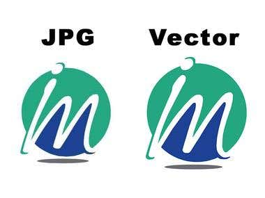 Make a vector out of a jpg logo