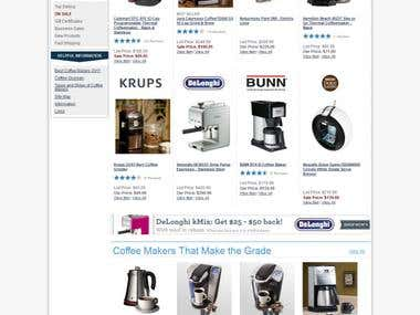 Web Design & Development - CoffeMakers