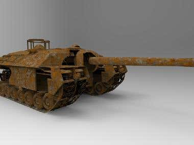 vintage tank 3d model