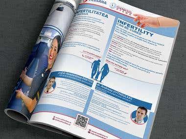 Promo page design - print