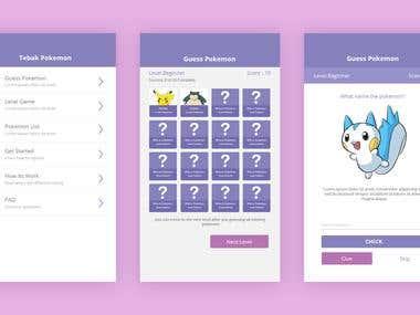 Pokemon App Mockup
