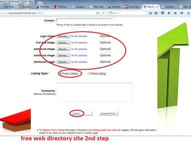 demo of web directory site