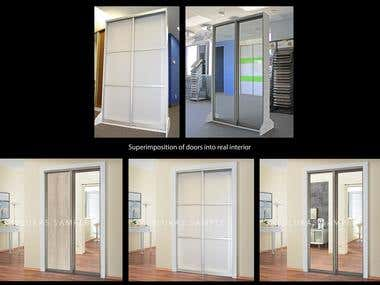 Superimposition of doors into real interior