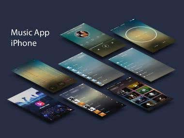 Music App design for iPhone