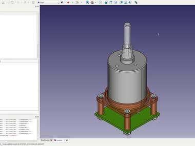 FreeCAD Motor and Encoder