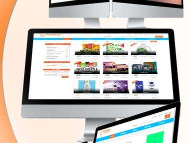 DotNet Ecommerce Website for coupons and offers.