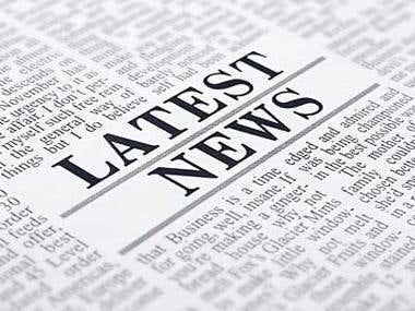 News Online web application