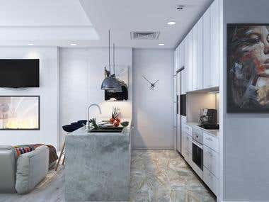 Entry+kitchen+living room ( 360º panorama )