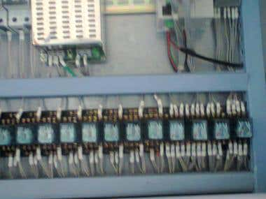 Typical layout of panel with PLC